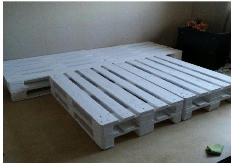 Hoog Bed 140x200.Pallet Bed 200 X 240 Cm Van 8 Nieuwe Pallets