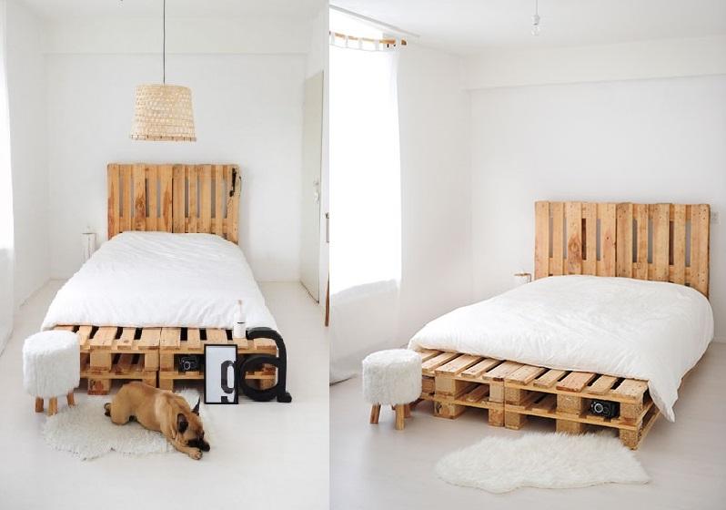 Bed Van Pallets : Pallet bed cm van nieuwe pallets